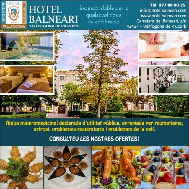 Balneari Tarragona Hotel Restaurant Vallfogona
