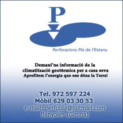 Perforacions Pla de l'Estany Pous i Geotèrmia a Banyoles