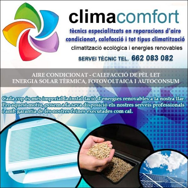 Energia Climatització Ecològica Deltebre Climacomfort