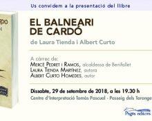 Presentació a Benifallet del llibre EL BALNEARI DE CARDÓ