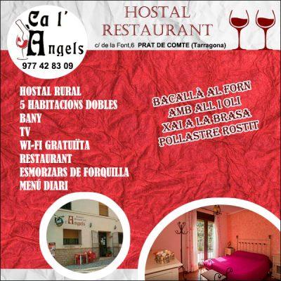 Prat de Compte Hostal Restaurant Calàngels