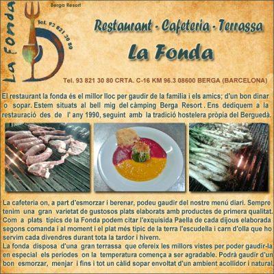 Berga Restaurant La Fonda