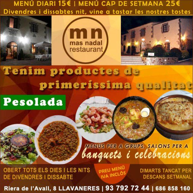 Llavaneres Restaurant Mas Nadal