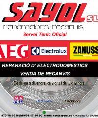 Reparació Electrodomèstics Sayol Granollers