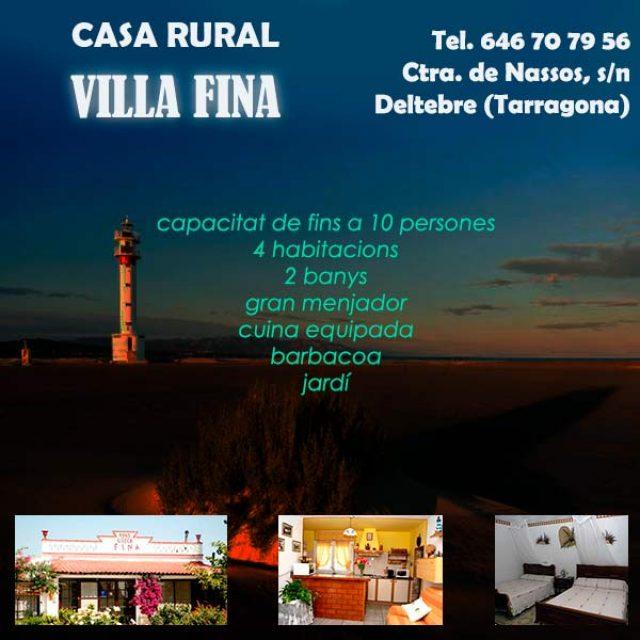 Turisme Rural Deltebre Villa Fina