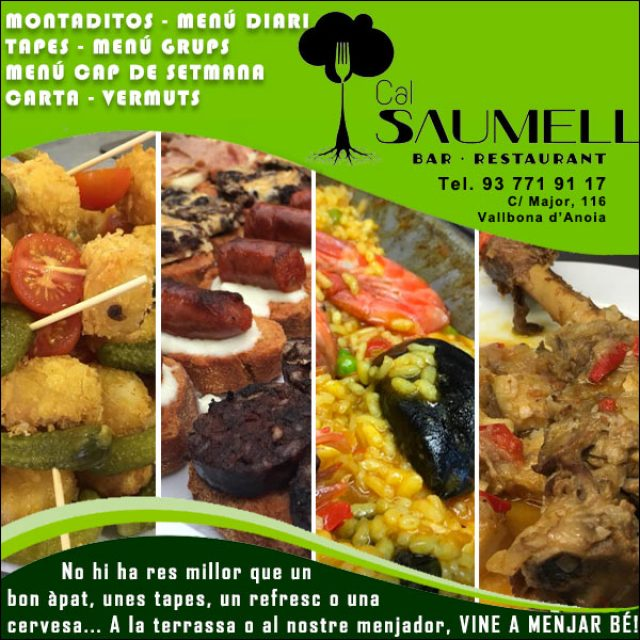 Vallbona Anoia Cal Saumell Restaurant