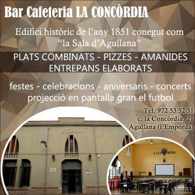 Agullana Bar Cafeteria la Concòrdia