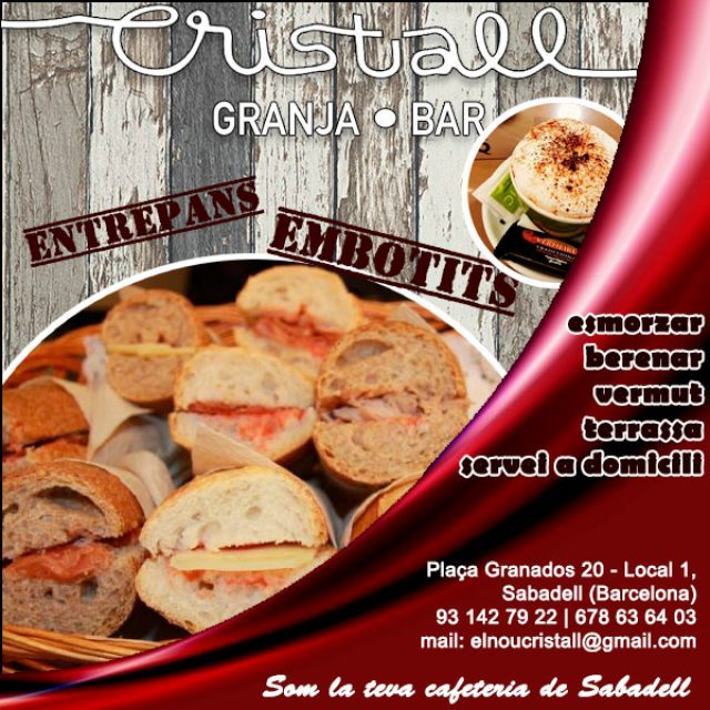 Sabadell Cafeteria Granja Bar Cristall
