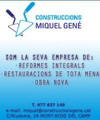 Construccions Reformes Miquel Gené Montroig Camp