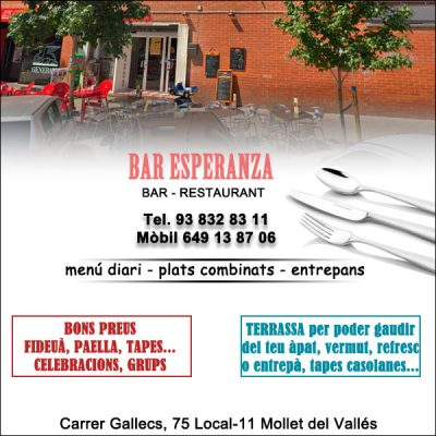 Mollet Restaurant Casolà Bar Esperanza