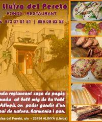 Alinyà Lleida Restaurant Fonda Lluïsa Peretó