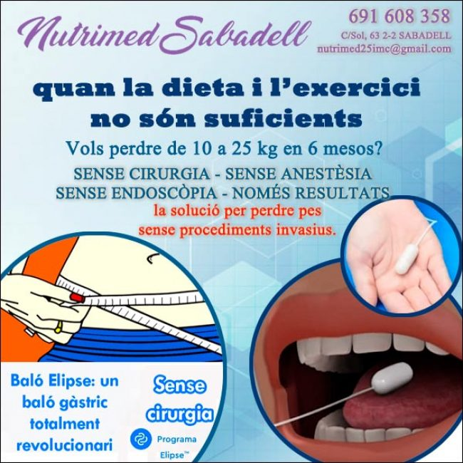 Baló Gàstric Sense Cirurgia Nutrimed Sabadell