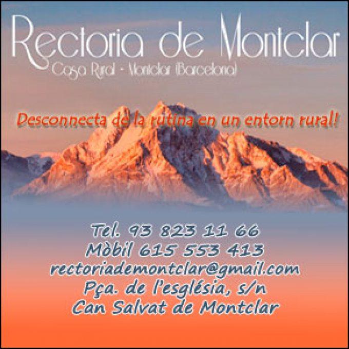 Rectoria de Montclar Berga Allotjament Rural