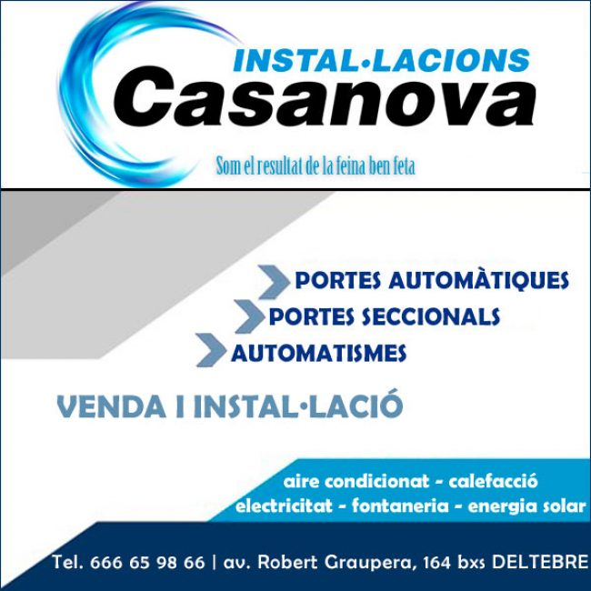 Deltebre Motorització Automatismes Portes Seccionals CasanovaInstalacions