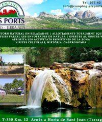 Horta Sant Joan Arnès Càmping els Ports