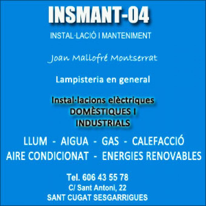 Lampisteria Sant Cugat Sesgarrigues Insmant-04